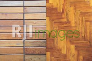 Aplikasi lantai kayu outdoor dan Lantai kayu motif L