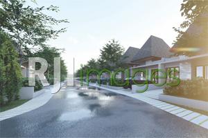 Perspektif kawasan rumah tipe 45 & 50 perumahan Arya Green Kalasan