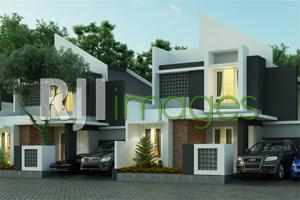 Perspektif new concept rumah tipe 65, Orizya Village Kaliurang 2