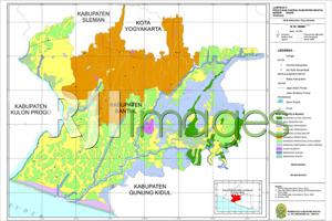 Peta Rencana Pola Ruang kabupaten Bantul