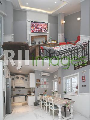 Ruang keluarga dan area dapur