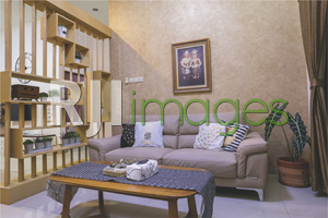 Ruang tamu dengan dekorasi simpel nan cozy