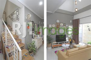 Tangga minimalis dengan sentuhan klasik dan Ruang keluarga berkonsep minimalis n