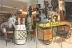 Bar Stole Set dan Meja kantor bergaya vintage